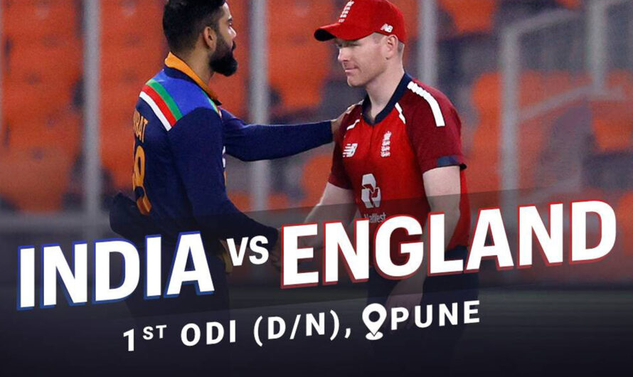 IND vs ENG 1st ODI Match 23 March 2021 Live Score, Playing XI, and Result