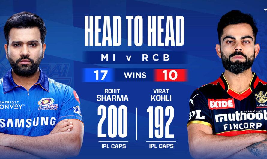 IPL 14 MI vs RCB 1st Match Live Score, Playing XI's, Win Prediction, Result 9 April 2021