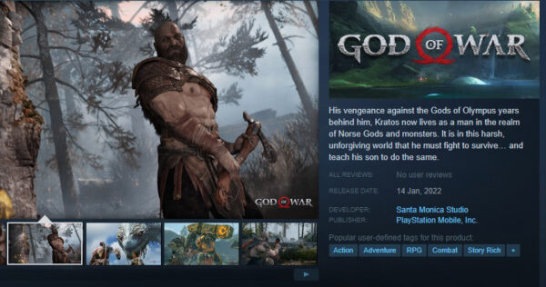 God of War (2018) Coming to PC  – India Steam Store and Epic Store Pricing – Full Details
